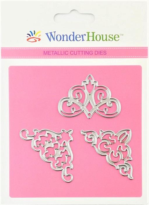 出荷 WonderHouse ワンダーハウス オリジナル スクラップブッキング ダイカット 商舗 DIY クラフト 129 ハンドメイド アルバム作り カード作り コーナー3枚入 抜型 ダイ