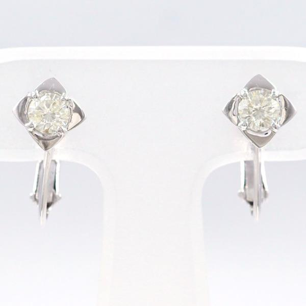 Wonder Price K14 14 Karat Gold Wg White Gold Earrings Diamond