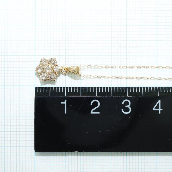K18 18金 YG イエローゴールド ネックレス ブラウンダイヤ 0 50 ジュエリー送料無料新品同様あす楽VSpjLUMqzG