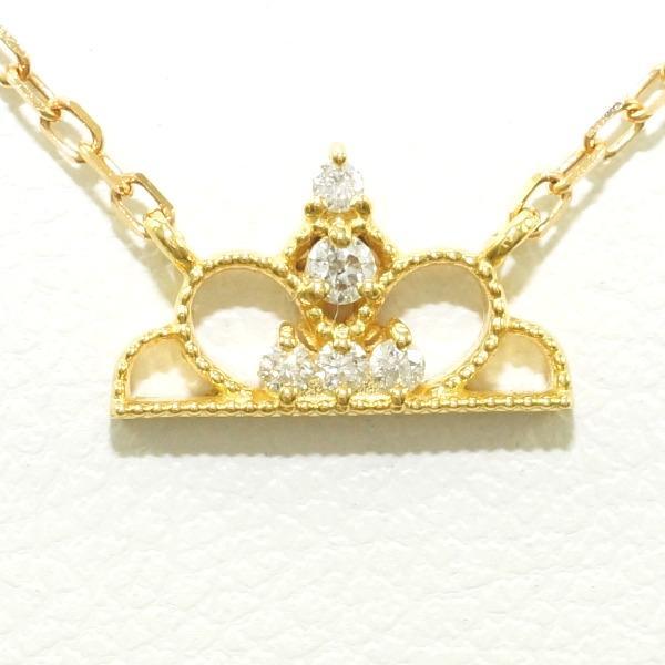 K18 18金 YG イエローゴールド ネックレス ダイヤ 0.03 ★送料無料★【取寄後発送】