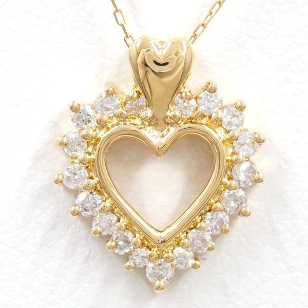 18K YG ネックレス ダイヤ 中古ジュエリー ★送料無料★【新品同様】【中古】【あす楽】