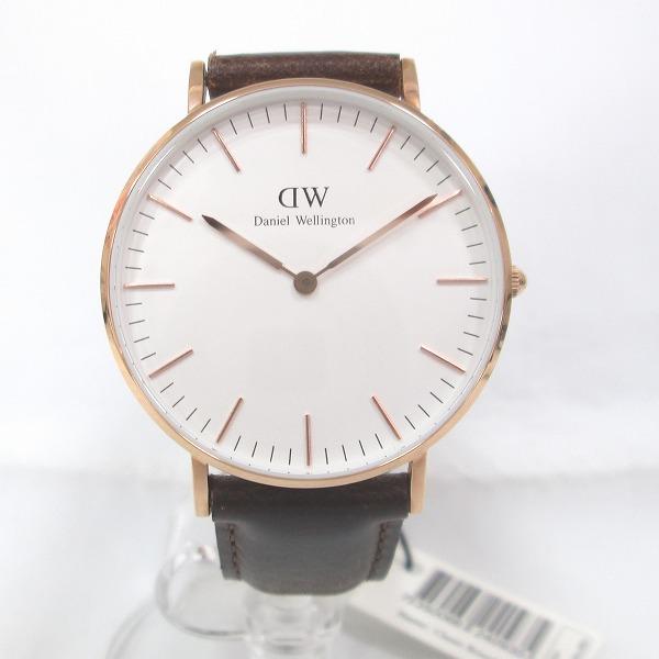 時計 ダニエルウェリントン 時計 腕時計 メンズ クオーツ 白文字盤 ★送料無料★【中古】【あす楽】