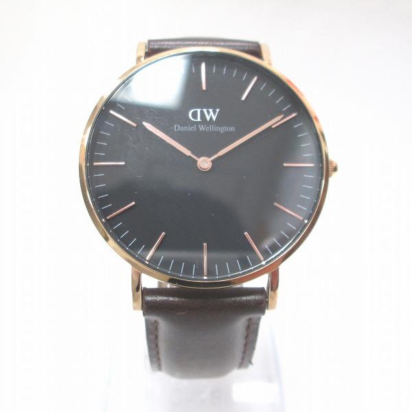 時計 ダニエルウェリントン 時計 腕時計 メンズ クオーツ 黒文字盤 ★送料無料★【中古】【あす楽】