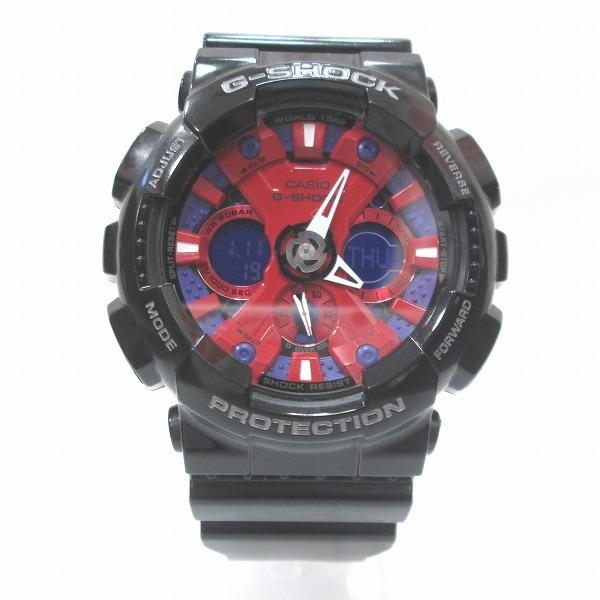 時計 カシオ G-SHOCK GA-120B 時計 腕時計 メンズ クオーツ レッド文字盤 ★送料無料★【中古】【あす楽】