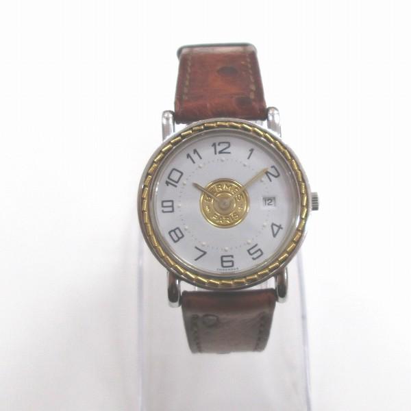 エルメス Hermes セリエ クォーツ オーストリッチベルト 時計 腕時計 レディース ★送料無料★【中古】【あす楽】