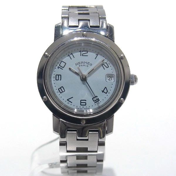 エルメス Hermes クリッパー CL4.210 クォーツ 白文字盤 レディース 腕時計 ★送料無料★【中古】【あす楽】