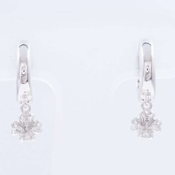 Wonder Price K14 14 Karat Gold Wg White Gold Earrings Diamond 0 04