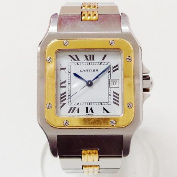 カルティエ Cartier サントスガルベ ゴドロンLM 時計 腕時計 メンズ ★送料無料★【中古】【あす楽】