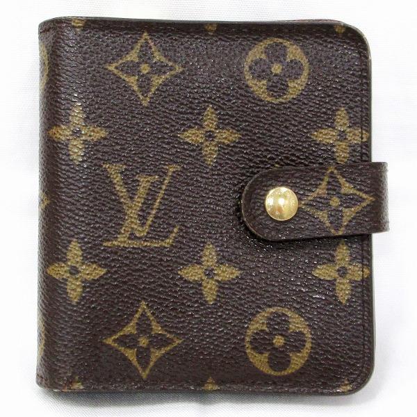 ルイヴィトン Louis Vuitton モノグラム コンパクトジップ M61667 財布 二つ折り財布 ユニセックス ★送料無料★【中古】【あす楽】