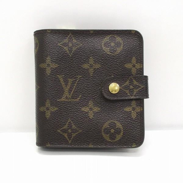 ルイヴィトン Louis Vuitton モノグラム コンパクト ジップ M61667 財布 2つ折り レディース ★送料無料★【中古】【あす楽】