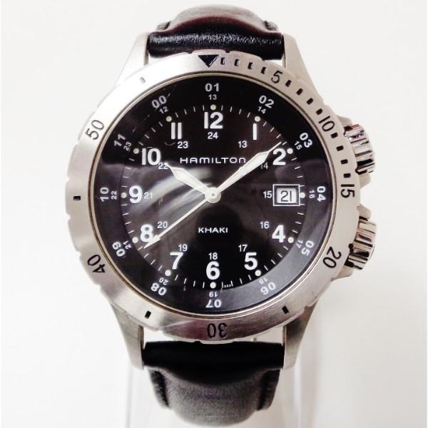 ハミルトン カーキ フィールド H744511 クォーツ 黒文字盤 時計 腕時計 メンズ ★送料無料★【中古】【あす楽】