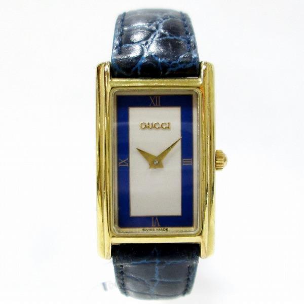 グッチ GUCCI 2600L 時計 腕時計 レディース クオーツ ブルー×アイボリー文字盤 ★送料無料★【中古】【あす楽】