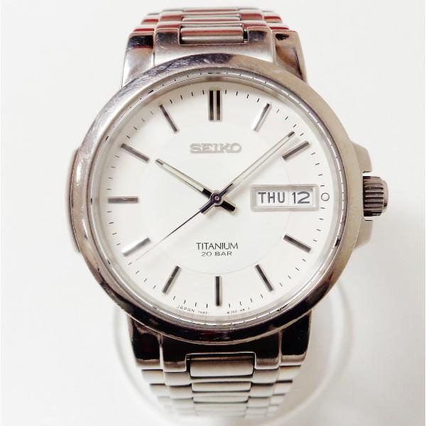 セイコー チタニウム クォーツ 7N42-7B80 時計 腕時計 メンズ ★送料無料★【中古】【あす楽】
