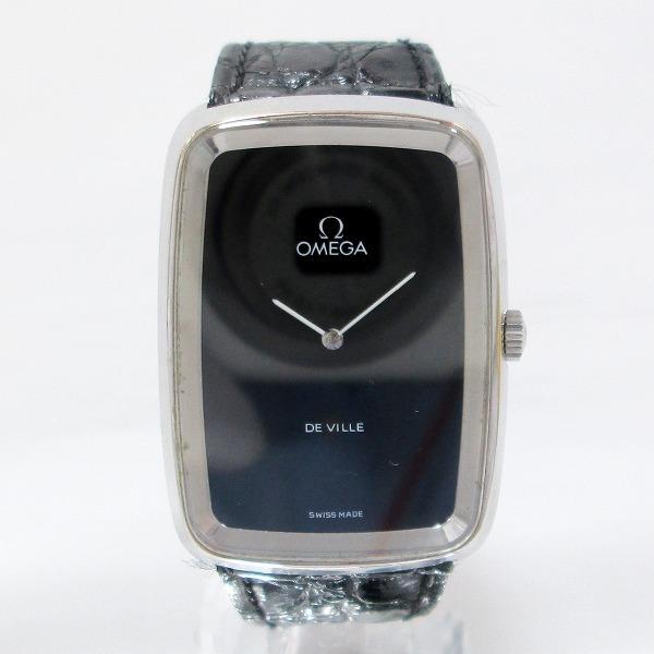 オメガ デビル 時計 腕時計 メンズ 手巻き ブラック文字盤 ★送料無料★【中古】【あす楽】