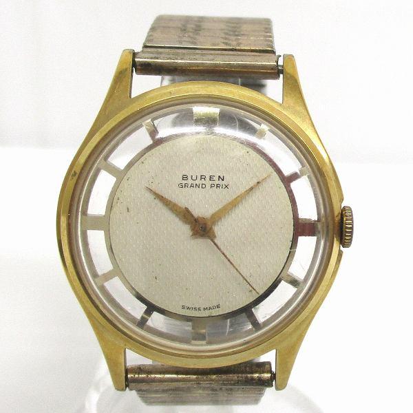 ビューレン GRAND PRIX 手巻き スケルトン 時計 腕時計 ユニセックス ★送料無料★【中古】【あす楽】