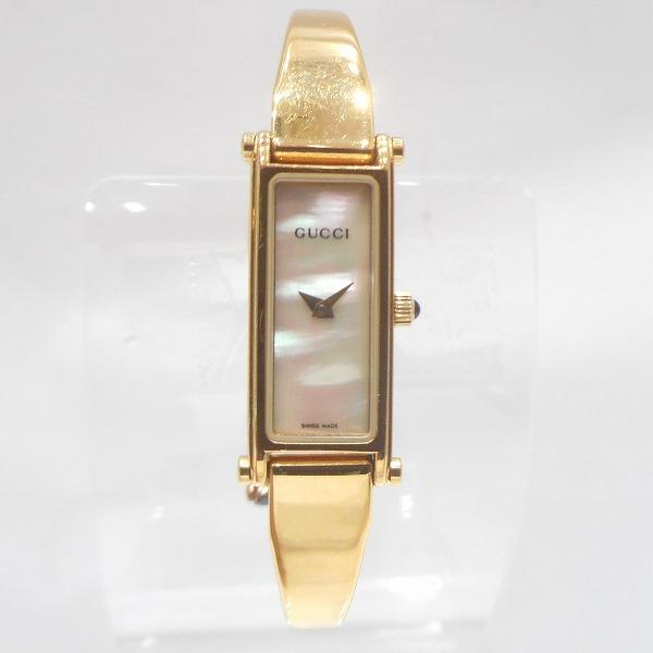 グッチ GUCCI 1500L ホワイトシェル文字盤 ゴールド クォーツ 時計 腕時計 レディース ★送料無料★【中古】【あす楽】