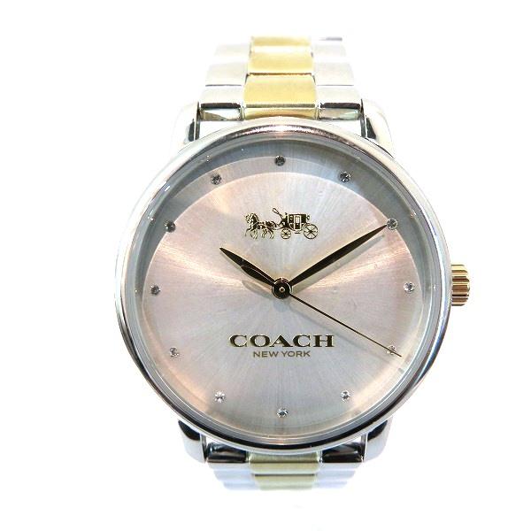 コーチ COACH CA.113.7.14.1510 コンビカラー ラインストーン 時計 腕時計 ユニセックス ★送料無料★【中古】【あす楽】