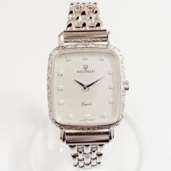 ウォルサム クォーツ K18WG 93190.52 時計 腕時計 レディース ★送料無料★【中古】【あす楽】