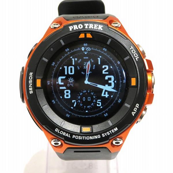 カシオ プロトレック スマートウォッチ GPS内蔵 WSD-F20 RG オレンジ メンズ 腕時計 ★送料無料★【中古】【あす楽】