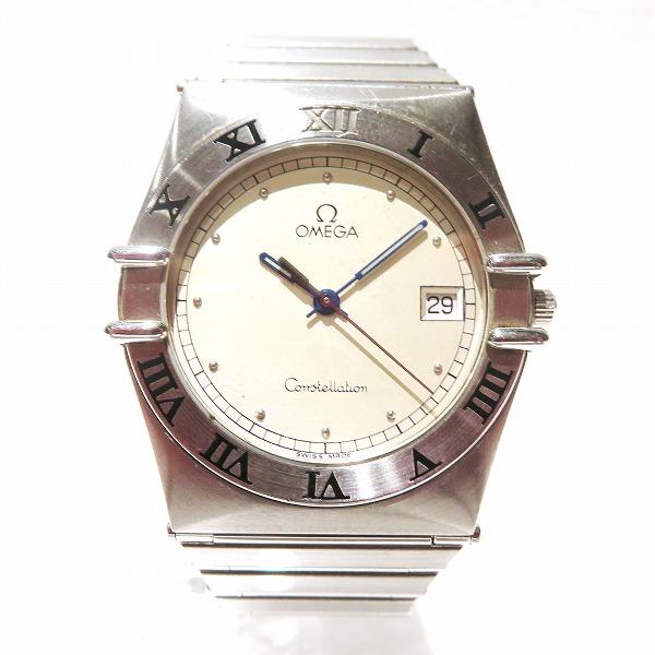 オメガ コンステレーション SS メンズ 腕時計 396.1070 クオーツ シルバー文字盤 ★送料無料★【中古】【あす楽】