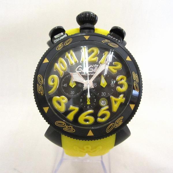 ガガミラノ MM48 黒×黄 時計 腕時計 メンズ ★送料無料★【中古】【あす楽】
