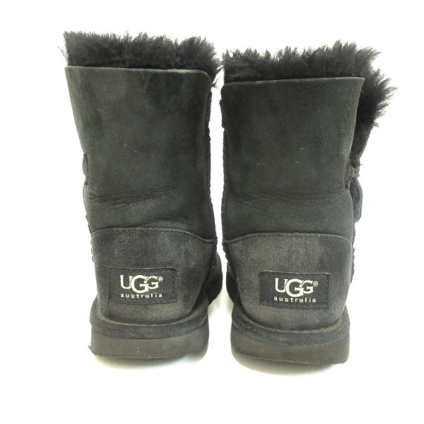 UGG アグムートンブーツ 5991T 18 5cm Bailey button black shoes boots kids accessory ★★
