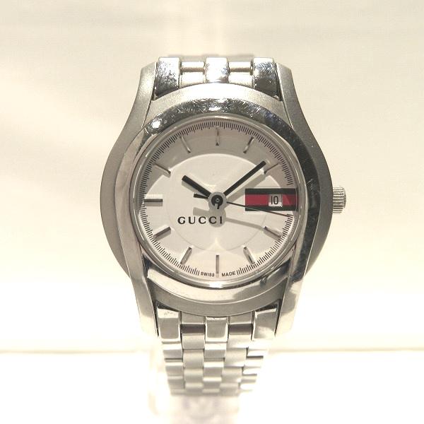 グッチ GUCCI 5500L ホワイト文字盤 クォーツ 時計 腕時計 レディース ★送料無料★【中古】【あす楽】