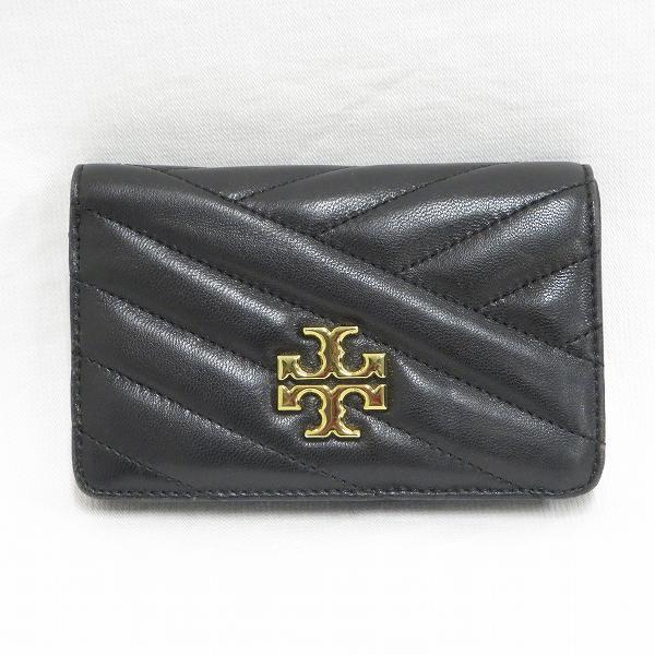 トリーバーチ レザー ブラック 2つ折り財布 レディース ★送料無料★【中古】【あす楽】