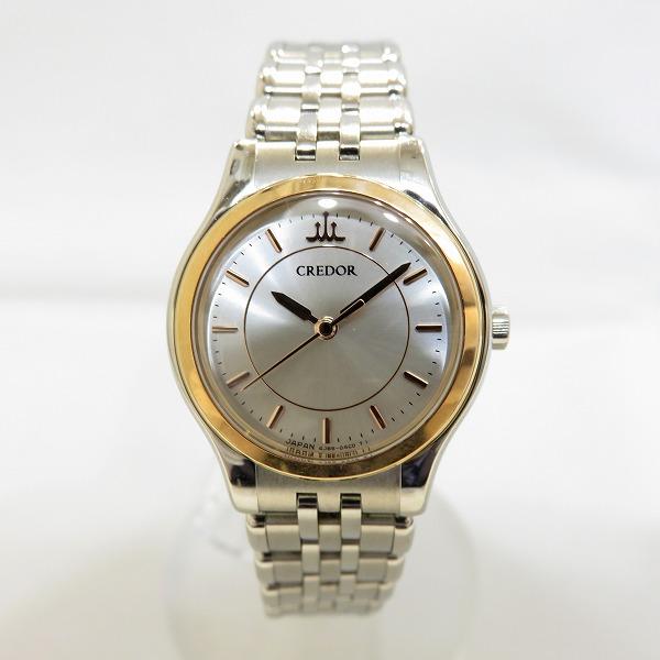 定価の67%OFF 中古ブランド時計 S3 セイコー クレドール 4J85-0A20 時計 腕時計 あす楽 中古 シルバー文字盤 5☆好評 クオーツ 送料無料 レディース