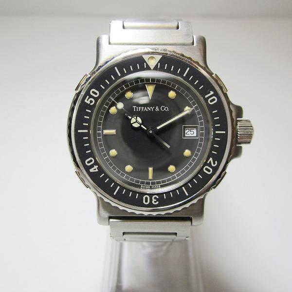中古ブランド時計 割り引き ティファニー M0711 クォーツ ダイバーズウォッチ 時計 送料無料 メンズ あす楽 中古 送料無料新品 腕時計