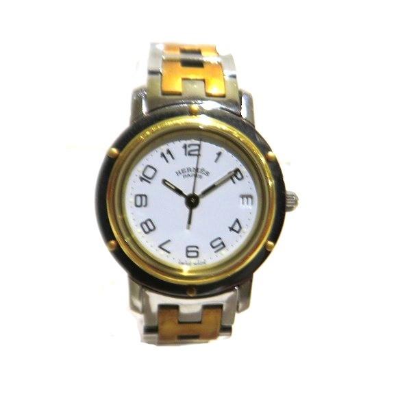 中古ブランド時計 エルメス Hermes クリッパー CL4.220 記念日 クォーツ レディース 時計 中古 驚きの値段 あす楽 送料無料 腕時計
