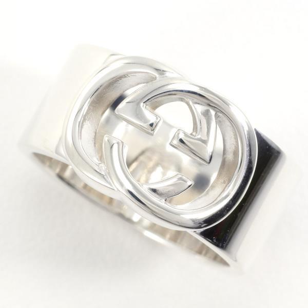 全品新品仕上げ済み 中古ブランドアクセサリー グッチ インターロッキング シルバー リング 指輪 18号 箱 スピード対応 全国送料無料 袋 総重量約10.6g 新品同様 送料無料 あす楽 2020A/W新作送料無料 中古 ギフトラッピング無料 ジュエリー