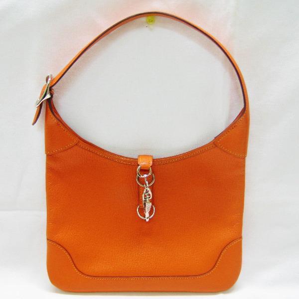 エルメス Hermes トリム24 セミショルダー バッグ オレンジ ★送料無料★【中古】【あす楽】