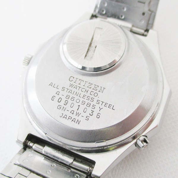시계 CITIZEN citizen CRYSTRON 크리스트 론4-860985맨즈 쿼츠 손목시계 데이데이트 LED 탑재 ★★
