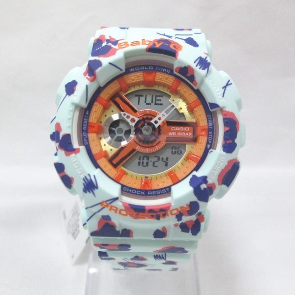 時計 カシオ Baby-G BA-110FL-3AJF レディース クォーツ 未使用 フラワーレオパード ★送料無料★【中古】【あす楽】