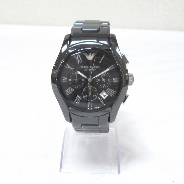 時計 エンポリオアルマーニ ヴァレンテ AR1400 メンズ腕時計 セラミカ ブラック 箱付き ★送料無料★【中古】【あす楽】