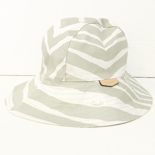 Brand  coach  Model  F84243  Color  stone (white   grey) Material  cotton   Size  M   L (head circumference  approx. 58 cm)  Rank  S  State  unread  items. 414f9f854d1