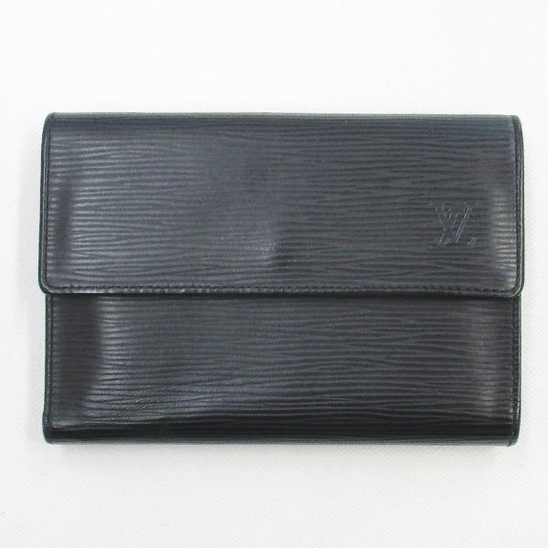 ルイヴィトン Louis Vuitton エピ パピエ 三つ折財布 M63712 ケース付 ★送料無料★【中古】【あす楽】