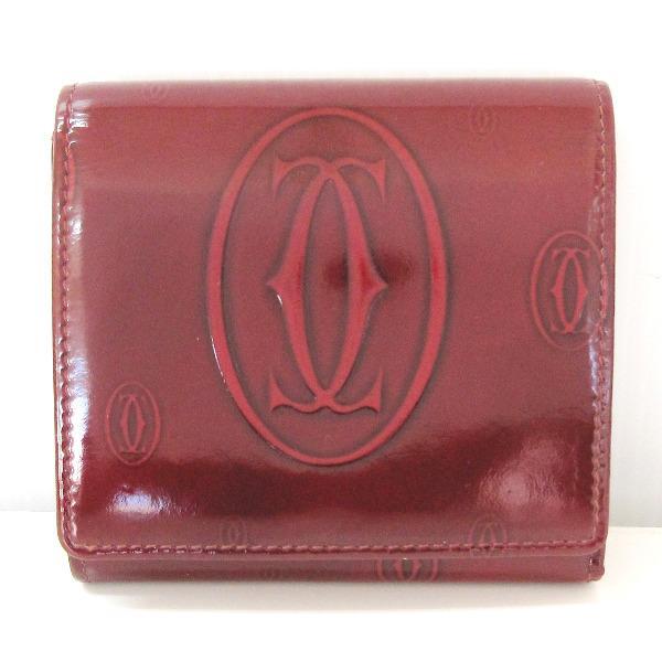 カルティエ Cartier ハッピーバースデー L3000720 三つ折り財布 ★送料無料★【中古】【あす楽】