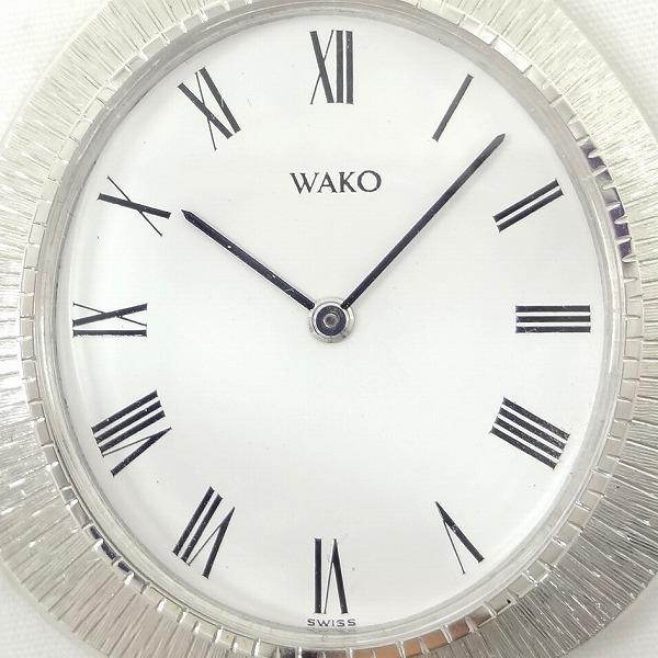 시계 WAKO 와코우 회중 시계 K18WG 손으로 말기 백문자반 ★★