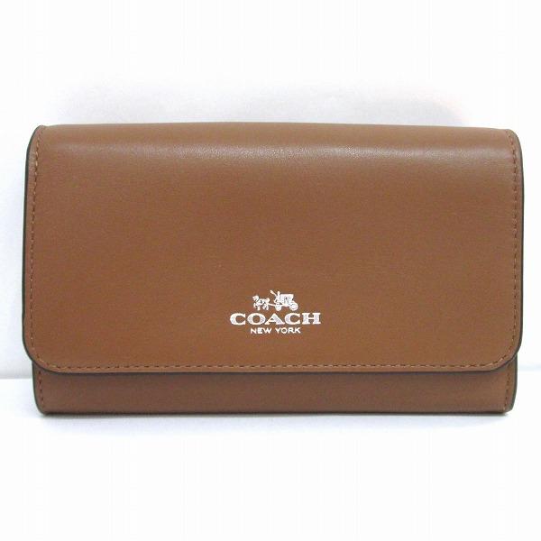 コーチ COACH ブティックライン 未使用 レザーフォーンウォレット 財布 ★送料無料★【中古】【あす楽】