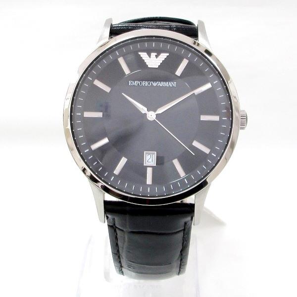 時計 アルマーニ AR2411 メンズ クオーツ 黒文字盤 時計 腕時計 ★送料無料★【中古】【あす楽】
