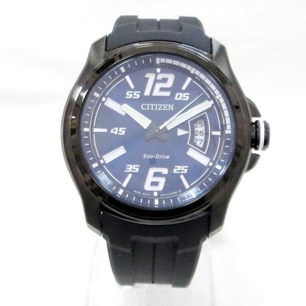 時計 シチズン エコドライブ AW1354-07L ソーラー メンズ 青文字盤 時計 腕時計 ★送料無料★【中古】【あす楽】