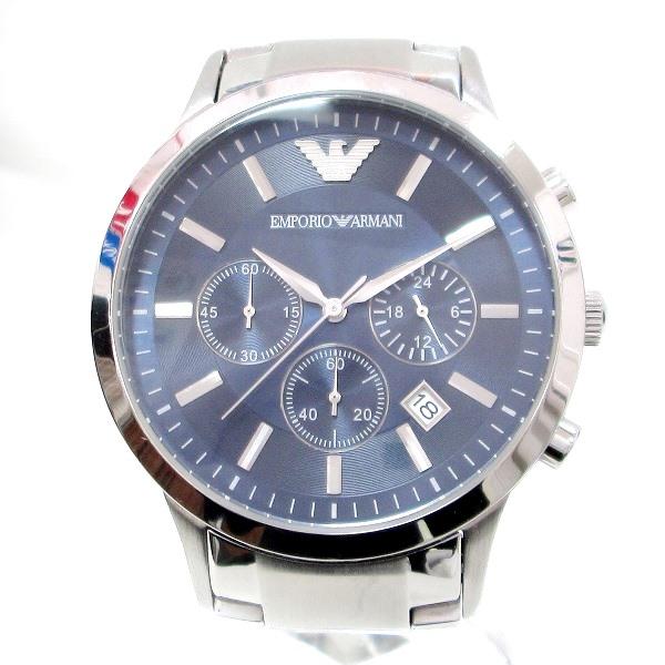 時計 アルマーニ AR-2448 メンズ クオーツ ネイビー文字盤 時計 腕時計 ★送料無料★【中古】【あす楽】