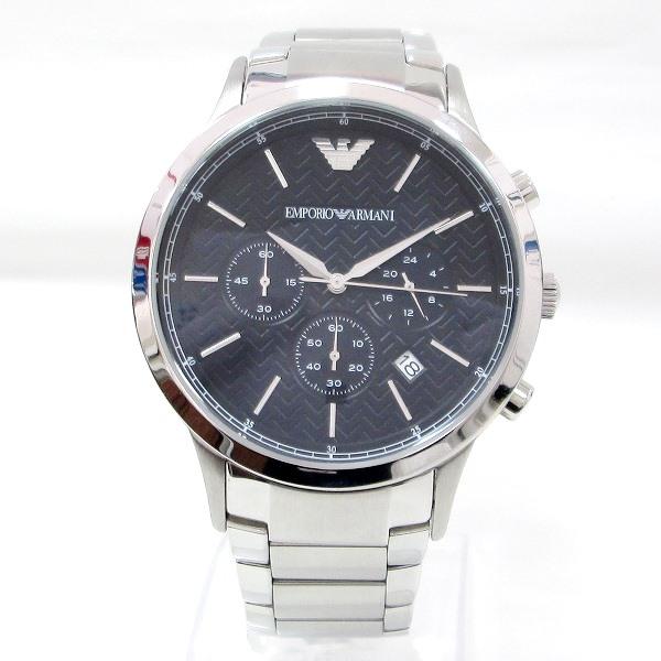 時計 アルマーニ クロノグラフ AR-2486 メンズ クオーツ 黒文字盤 時計 腕時計 ★送料無料★【中古】【あす楽】