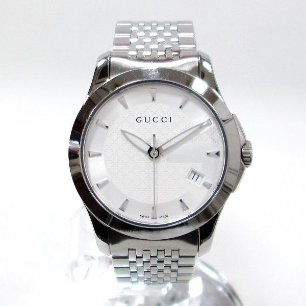 時計 グッチ GUCCI Gタイムレス 126.5 レディース クオーツ 白文字盤 時計 腕時計 ★送料無料★【中古】【あす楽】