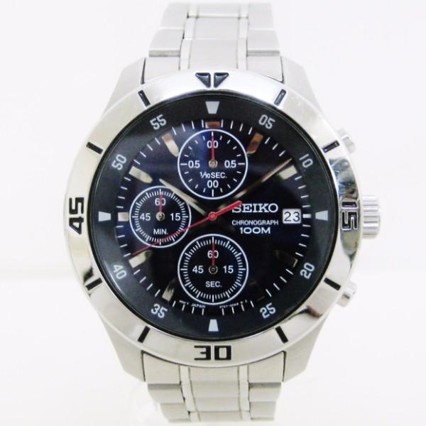 時計 セイコー クロノグラフ 100M メンズ クォーツ 4T57-00A0 ★送料無料★【中古】【あす楽】