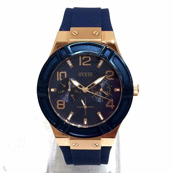 時計 GUESS ゲス JET SETTER ジェットセッター レディース腕時計 W0571L1 ブルー ★送料無料★【中古】【あす楽】