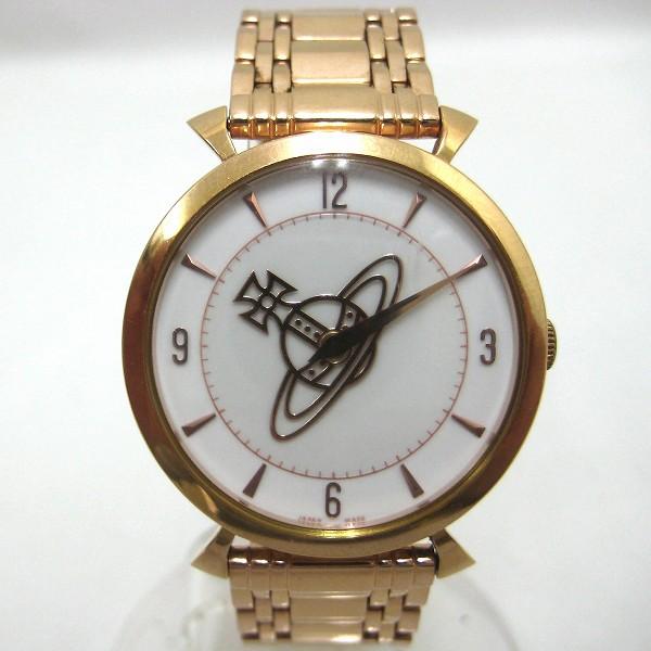 時計 ヴィヴィアンウエストウッド CLASSIC ウォッチ VW-7743 SS ピンクゴールド 白文字盤レディース 腕時計 電池交換済み ★送料無料★【中古】【あす楽】