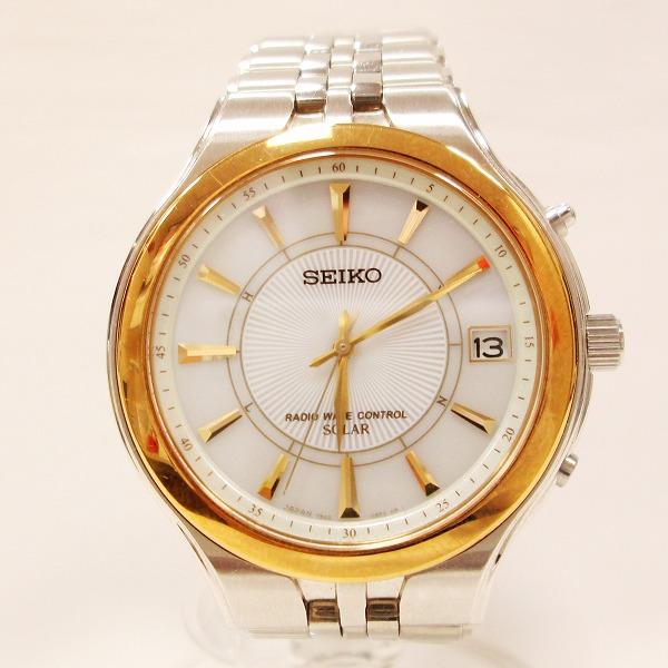 セイコー 7B42-0AP0 時計 腕時計 メンズ 電波ソーラー ★送料無料★【中古】【あす楽】